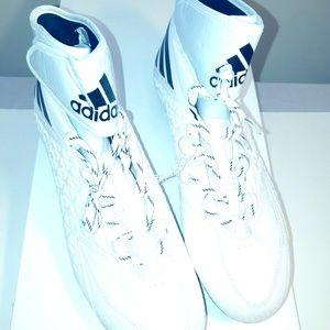 Adidas Freak x Carbon High Cleats White/Black